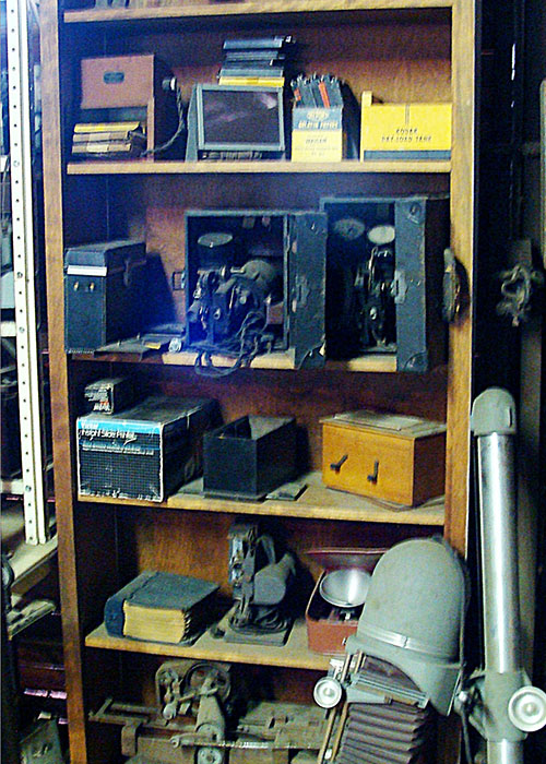 Shelves of Old Machines