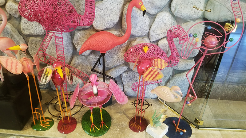 Flamingos-by-Fireplace