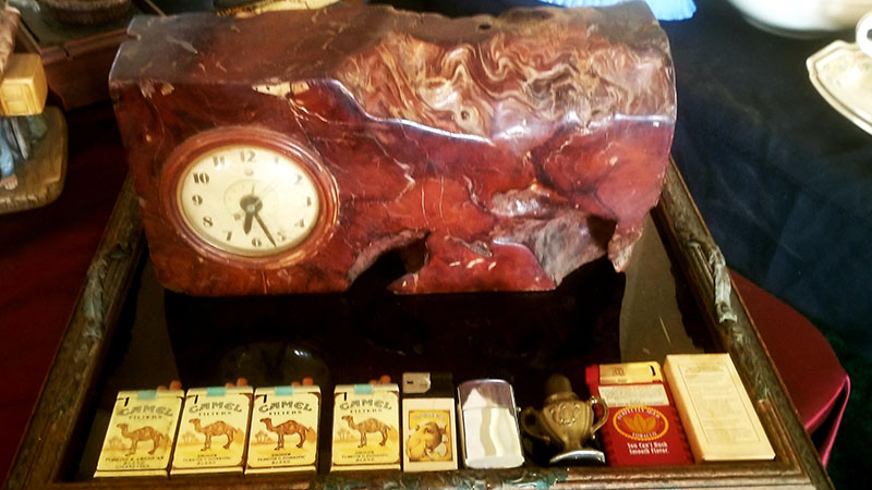 Clock-and-Cigarette-Packs