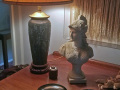 Side-Table-Lamp-and-Statue