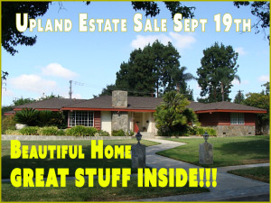 estate sale, upland, california, vander molen estate sales, 91784