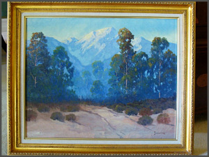 George Bickerstaff, california art, estate sale, oil painting, vander molen estate sales, plein air, oil painting