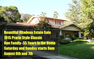 Altadena, estate sale, vander molen estate sales