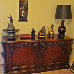 carved chest, estate sale, claremont, california, los angeles, antiques, vander molen estate sales