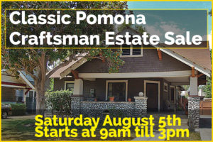 estate sale, liquidation sale, pomona, california, vander molen estate sales