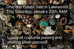 Estate sale, vander molen, lakewood, ca, 90712, costume jewelry