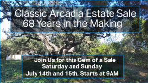 arcadia, estate sale, home