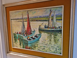 estate sale, oil painting, boat painting, upland ca