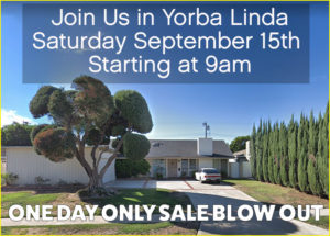 estate sale, yorba linda, ca, orange county