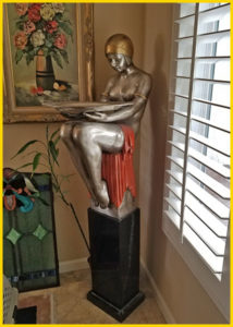 estate sale, art deco statue, rancho cucamonga