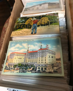 upland, estate sale, vintage postcards, vander molen
