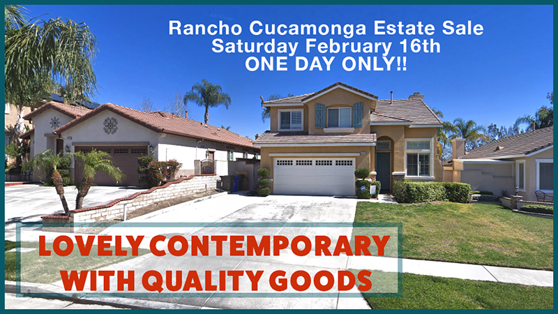 estate sale, rancho cucamonga