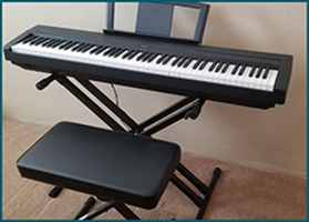 Yamaha Piano, estate sale, rancho cucamonga