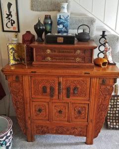 asian, furniture, carved chest, estate sale, sherman oaks