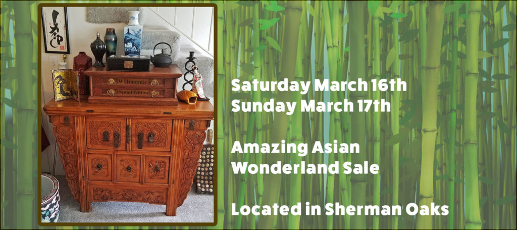 Sherman Oaks, estate sale, asian antiques