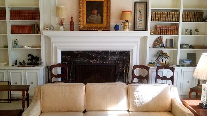pasadena, estate sale, vander molen, old home, traditional living room