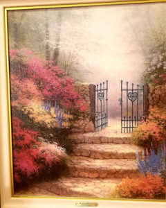 thomas kincaid, garden of promise, art work, estate sale