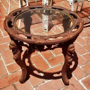 vintage, cast iron table, outside furniture, estate sale