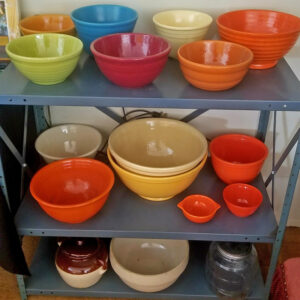 Colorful, Bowls, Vintage, Bauer, Estate Sale