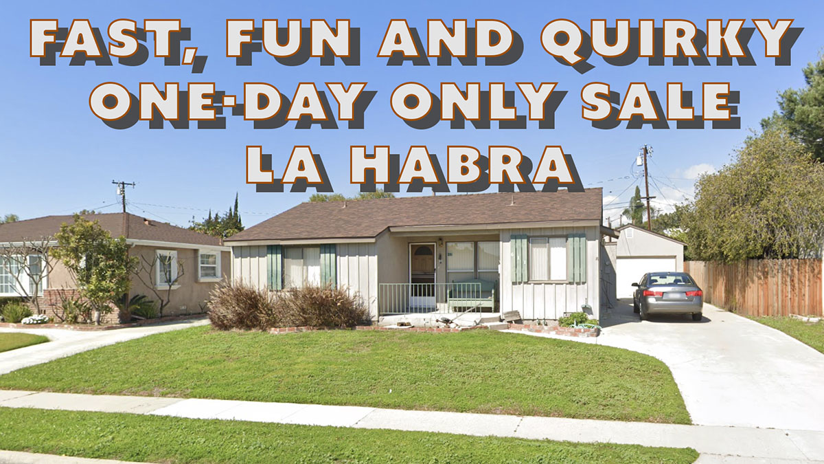 la habra, california, estate sale, furniture