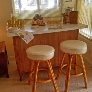 midcentury, bamboo bar, ficks reedstools, duarte, estate sale,
