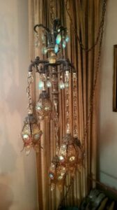 hanging lamp, estate sale, pomona