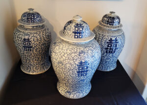 Chinese, asian, urns, vases