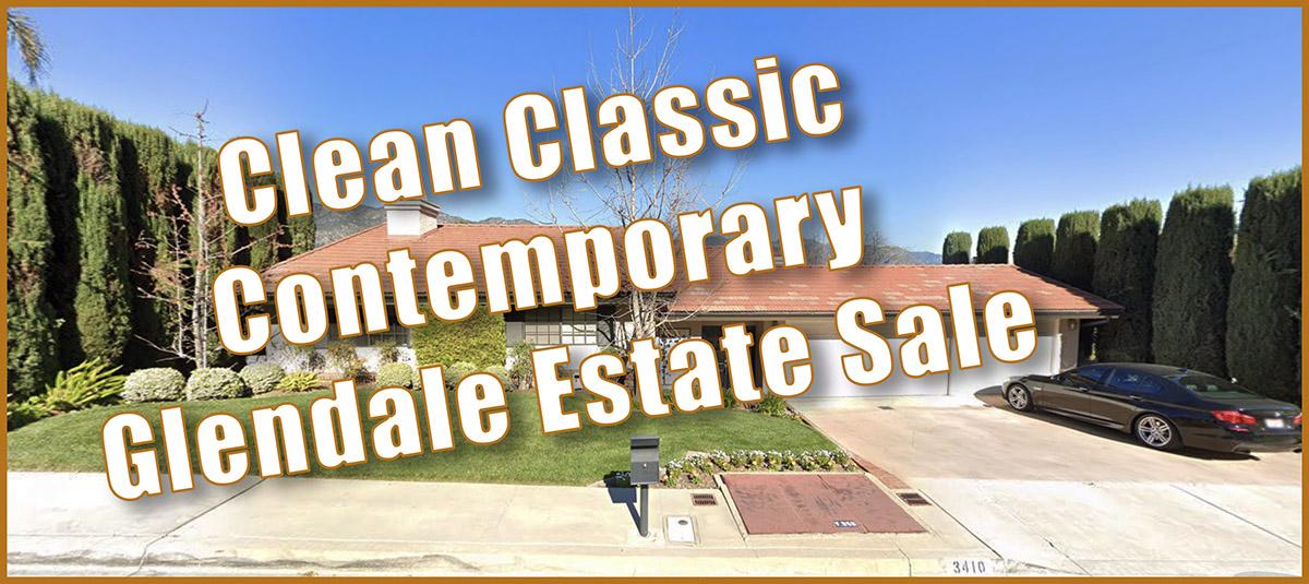 Glendale, estate sale, contemporary home