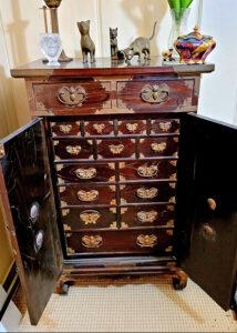 asian chest, antique furniture, estate sale