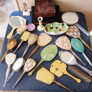 vintage hand mirrors, estate sale