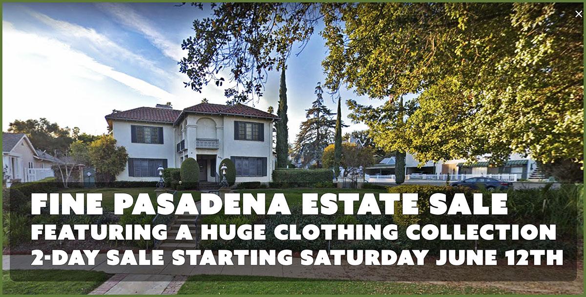 Pasadena, Estate Sale, Vander Molen Estate Sales