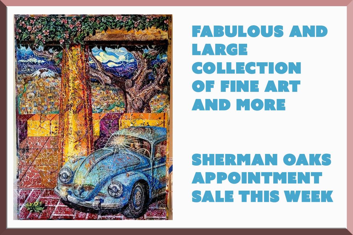 Estate sale, sherman oaks, los angeles, california, fine art, vander molen estate sales