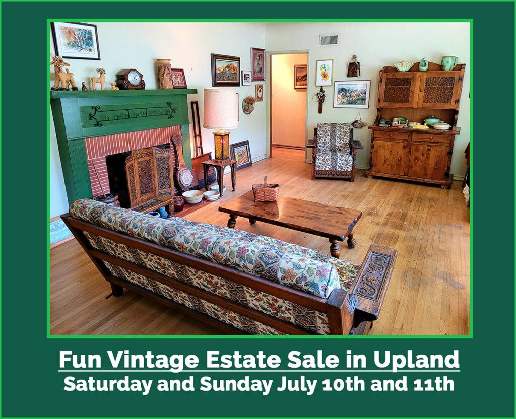 Estate sale, upland, ca, vintage goods