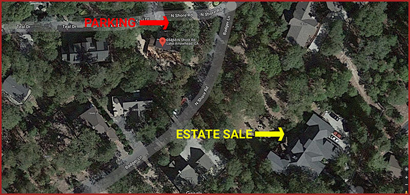 Lake arrowhead, estate sale, map
